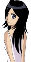 Long-haired-Rukia by yumehime04