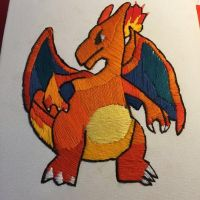 Charizard Embroidery by Hexighost