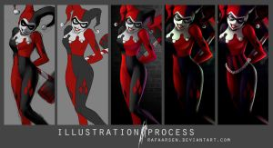 Harley Quinn process by rafaarsen