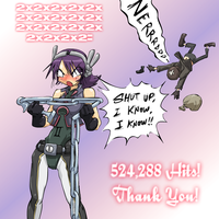524,288 kiriban - Binary Girl by JohnSu