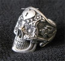 Day of the dead Skull ring #4 by GerlachStyle