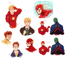 The Flash: Sketch Dump by Aibyou