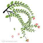 Hibiscus Flower Plant Vector Art by 123freevectors
