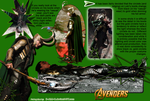 Loki's Boots (from The Avengers) - Gold Circlets by D-AMJ-C