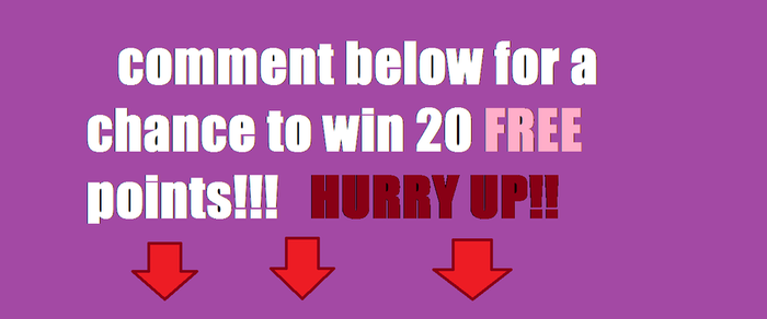 Comment Below To Win Points by Give-away-points