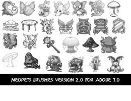 Neopets Faerie Brushes 2 by newdoll-stock