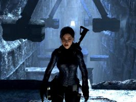 Lara searching 4 Thor's hammer by Chriss2010