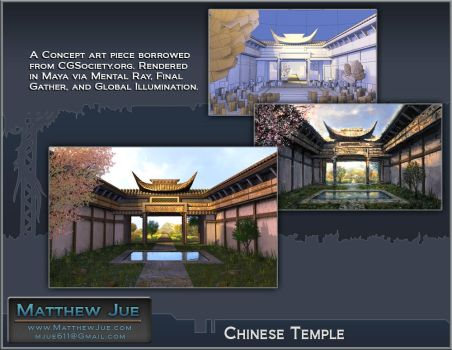 Chinese Temple Layout by WaffleJuey