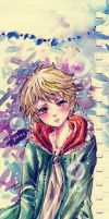 Yukine (watercolor doodle) by areshia-channnn