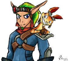 jak and daxter by SimonTheFox1