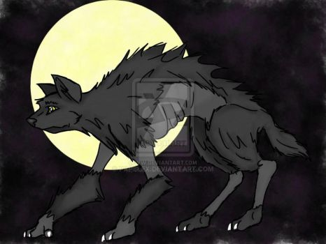 Werewolf Drawing by Papelex