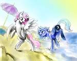 At the beach Speed Paint by SilFoe
