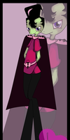 Invader Zim, as furry pony. by Grey-Sweet
