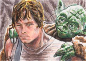Luke and Yoda by tdastick