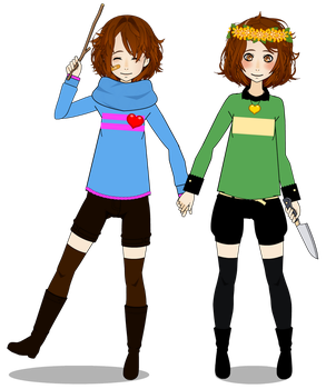 Cosplay from Frisk And chara. by KarinaGEstranha