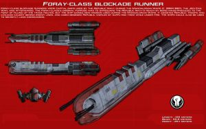Foray Class Blockade Runner ortho [New] by unusualsuspex