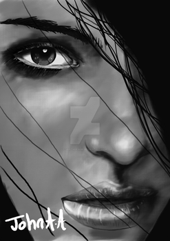 Half Face (Greyscale) by jartndesign