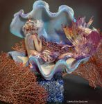 ENCHANTED SEASHELL MERMAID SCULPTURE SUTHERLAND by SutherlandArt