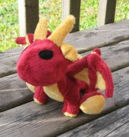 Plush dragon, Red and Yellow by Blenia