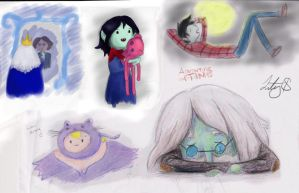 Adventure Time Doodles by WaterLily-95