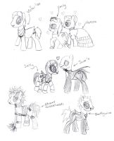 If Burton Characters Were Ponies... by littlenatnatz101
