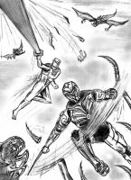 Rom spaceknight and Onyx team up sketch art by csuhsux
