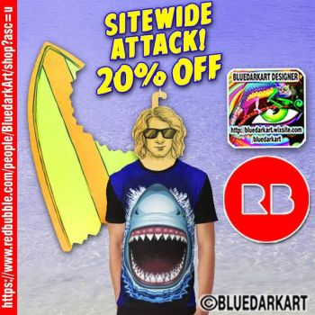 Shark Attack t-shirts  Design by BluedarkArt by Bluedarkat