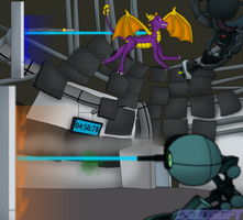 Spyro vs GLaDOS by CsioSoft