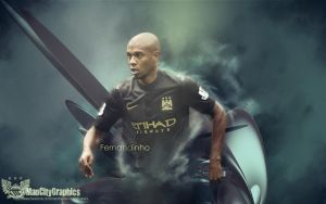 Fernandinho Wallpaper by ManCityGraphics
