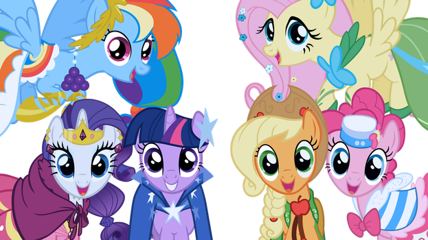Mane 6 at the Gala by WakkaEx