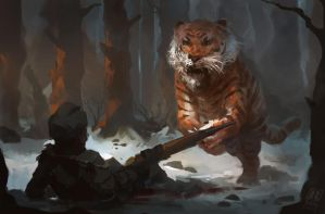 Tiger  Fighter by Raph04art