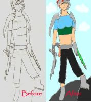 Before and after of A.R by ComsumedDarkness