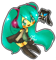 VOCALOID Chibi - Miku and BRS by XxoOjunefoxOoxX