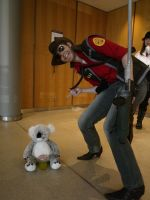 TF2 RED Sniper Cosplay :DERP: by DrunkenFangschrecke