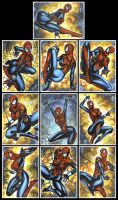 SPIDER GIRL MAYDAY PARKER SKETCH CARDS by AHochrein2010