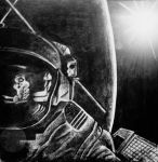 Charcoal Astronaut by BluenetteDiviner