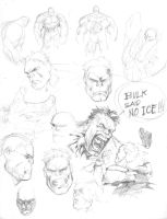 Hulk Rough Studies by guisadong-gulay