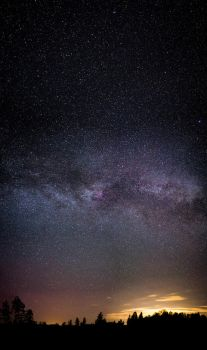 Milky Way over the setting sun by FreezingGlare
