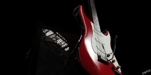 3D Guitar with Amplifier #2 by Ineray