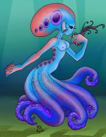 Octopus Girl by Katuchan