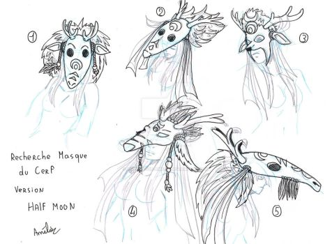 Study - Mask of the Deer by Hurlespoir-Amelie