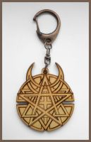 DISTURBED - wood keyring by Piciuu