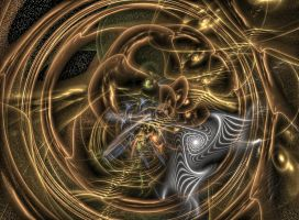Steampunk Fractal by Kancano