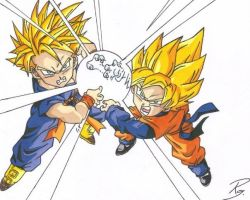 Trunks and Goten by Rubikins