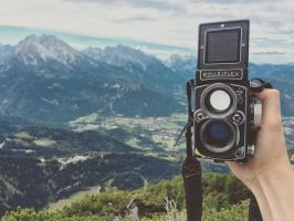 Rollei in the Alps by jonniedee