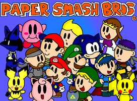 Paper Smash Bros. by Candy-Swirl