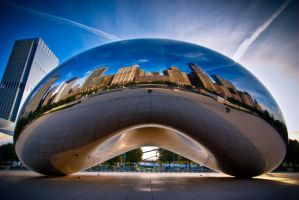 Chicago, Cloud Gate portrait by alierturk