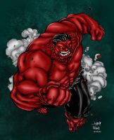 Red Hulk Colored by likwidlead