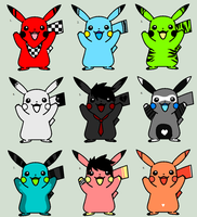 Pikachu Adoptables - 20 points each by Sliced-Penguin