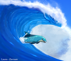 Riding on the waves by zavraan